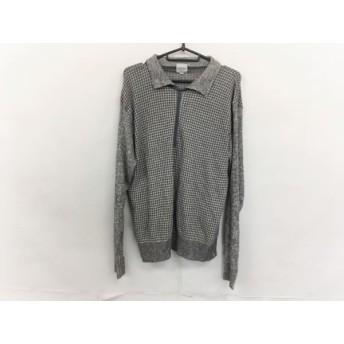 【中古】 ジバンシー GIVENCHY 長袖ポロシャツ サイズ46 XL メンズ アイボリー グレー ニット/MONSIEUR