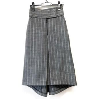 【中古】 リト Rito ロングスカート サイズ38 M レディース 美品 グレー 黒