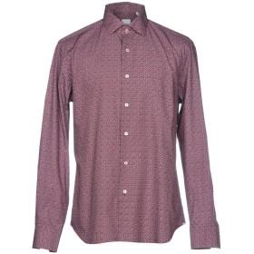 《期間限定セール開催中!》XACUS メンズ シャツ ボルドー 39 コットン 100%
