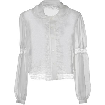 《セール開催中》ALBERTA FERRETTI レディース シャツ ホワイト 48 シルク 100%