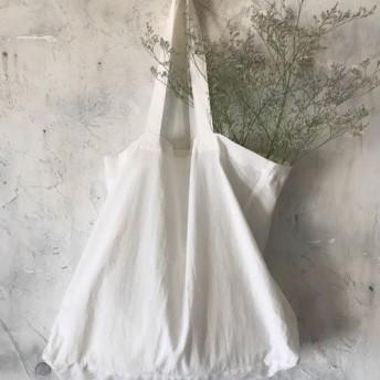 cotton linen bag (white)