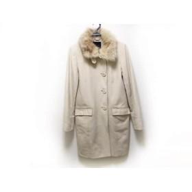 【中古】 ボッシュ BOSCH コート サイズ40 M レディース アイボリー 冬物/ファー