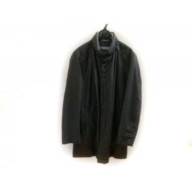 【中古】 ヒューゴボス HUGOBOSS コート サイズUS 38R メンズ 黒 グレー GORE-TEX/冬物
