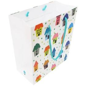 エヒメ紙工 デザインペーパーバッグ Mサイズ 10枚パック ハウス IE-M-10P