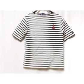 【中古】 セントジェームス SAINT JAMES 半袖Tシャツ レディース 白 ネイビー ボーダー