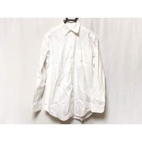 【中古】 アルマーニコレッツォーニ ARMANICOLLEZIONI 長袖シャツ サイズ40 M メンズ 白 ストライプ