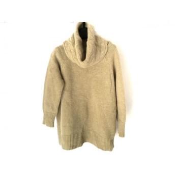 【中古】 ニジュウサンク 23区 七分袖セーター サイズ38 M レディース ベージュ