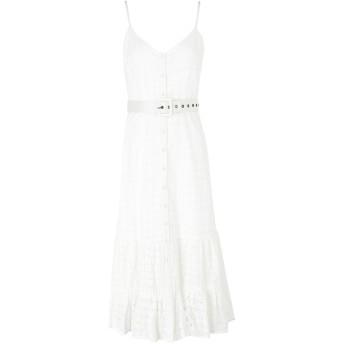 《期間限定セール開催中!》WE ARE KINDRED レディース 7分丈ワンピース・ドレス ホワイト 8 コットン 100% SOOKIE MIDI DRESS