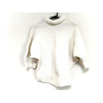 【中古】 グレースコンチネンタル GRACE CONTINENTAL 七分袖セーター サイズ36 S レディース アイボリー