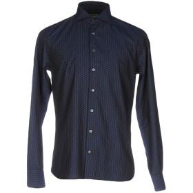 《期間限定セール開催中!》SEVENTY SERGIO TEGON メンズ シャツ ダークブルー 39 コットン 100%
