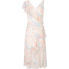 《セール開催中》LAUREN RALPH LAUREN レディース 7分丈ワンピース・ドレス ホワイト 4 ポリエステル 100% FLORAL GEORGETTE DRESS