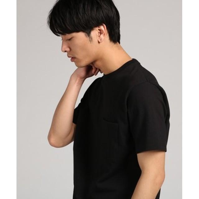 GOOD WEAR 【WEB限定】ポケット付きベーシックTシャツ メンズ ブラック