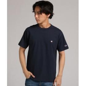 Champion 【WEB限定】ワンポイントクルーネックTシャツ メンズ ネイビー