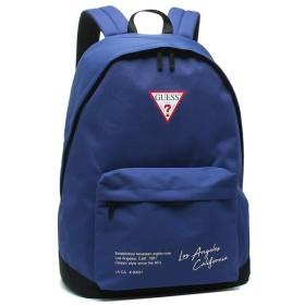 【返品OK】ゲス バッグ GUESS AJ1A4A22 BLU CASUAL BAG トライアングルロゴ メンズ レディース リュック・バックパック BLUE 青 【お取り寄せ商品】