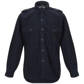 《期間限定セール開催中!》DEPERLU メンズ シャツ ダークブルー S コットン 100%