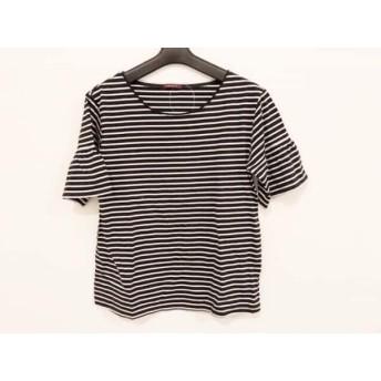 【中古】 アマカ AMACA 半袖Tシャツ サイズ38 M レディース 黒 白 ボーダー