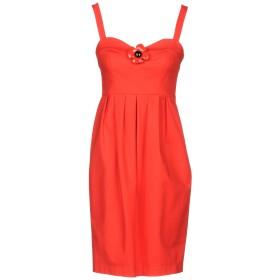 《セール開催中》BOUTIQUE MOSCHINO レディース ミニワンピース&ドレス レッド 46 コットン 96% / 指定外繊維 4%