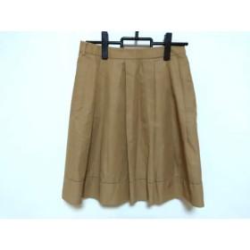 【中古】 トゥモローランド TOMORROWLAND スカート サイズ38 M レディース ベージュ プリーツ