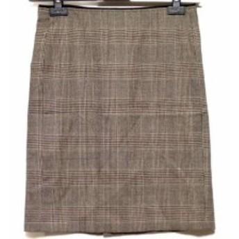 ニジュウサンク 23区 スカート サイズ36 S レディース 黒×グレー×オレンジ 千鳥格子【中古】
