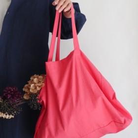 cotton linen bag (coral pink)