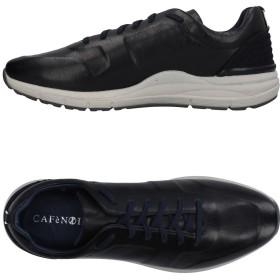 《期間限定セール開催中!》CAFNOIR メンズ スニーカー&テニスシューズ(ローカット) ブラック 39 革 / 紡績繊維