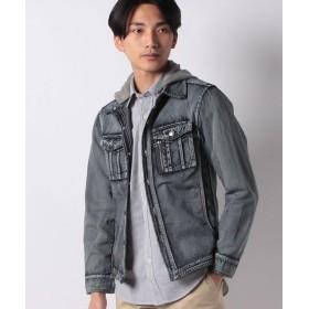 【10%OFF】 マルカワ デニム フード脱着 ウエスタンシャツ メンズ クラシックブルー L 【MARUKAWA】 【セール開催中】
