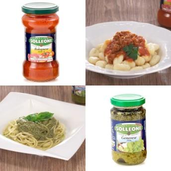 イタリア産パスタソース ボロネーゼ&ジェノベーゼ各1本