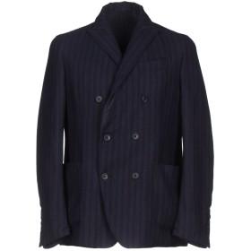 《期間限定 セール開催中》RVR LARDINI メンズ テーラードジャケット ダークブルー 50 ウール 100%