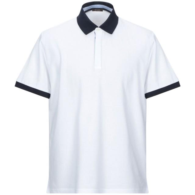 《セール開催中》FERRANTE メンズ ポロシャツ ホワイト 48 コットン 100%