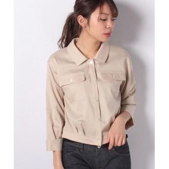 デビュー・ド・フィオレ 2wayシャツジャケット レディース ミルクティー 38 【Debut de Fiore】