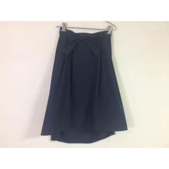 【中古】 ジユウク 自由区/jiyuku ロングスカート サイズ38 M レディース ネイビー