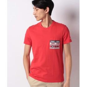 【40%OFF】 トミーヒルフィガー グラフィックポケットTシャツ メンズ レッド S 【TOMMY HILFIGER】 【セール開催中】