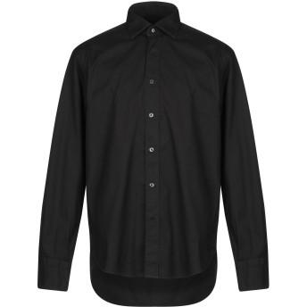 《9/20まで! 限定セール開催中》TINTORIA MATTEI 954 メンズ シャツ ブラック 39 97% コットン 3% ポリウレタン