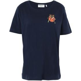 《期間限定 セール開催中》ESSENTIEL ANTWERP レディース T シャツ ダークブルー 2 コットン 100% SOBEETLE1