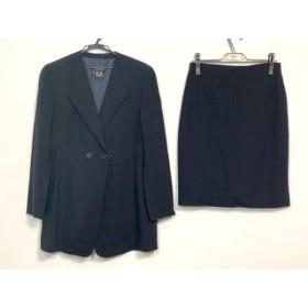 【中古】 エスカーダ ESCADA スカートスーツ サイズ38 L レディース ダークネイビー グレー ストライプ