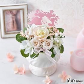 【日比谷花壇】ディズニー プリザーブド&アーティフィシャルアレンジメント「ミッキー&ミニー HAPPY WEDDING」