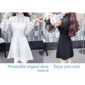 シースルー ワンピース 韓国 パーティードレス 結婚式 ワンピース ドレス 大きいサイズ パーティードレス 結婚式 お呼ばれ ドレス 20代