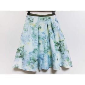 【中古】 ジャスグリッティー JUSGLITTY スカート サイズ1 S レディース 白 ライトグリーン マルチ 花柄