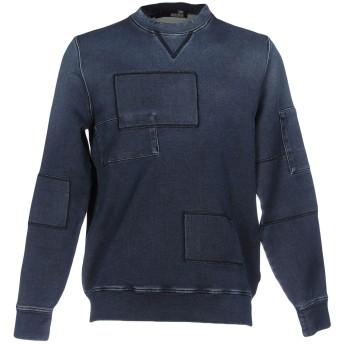 《セール開催中》LOVE MOSCHINO メンズ スウェットシャツ ブルーグレー S コットン 99% / ポリウレタン 1%
