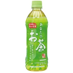 サンガリア あなたのお茶 500ml ペットボトル 1ケース(24本)