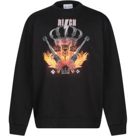 《期間限定セール開催中!》JOHN RICHMOND メンズ スウェットシャツ ブラック S コットン 100%