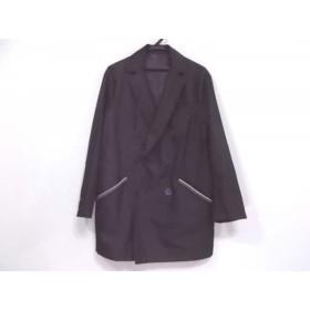 【中古】 エトロ ETRO コート サイズM メンズ 美品 黒 春・秋物