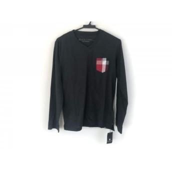 【中古】 ブラックレーベルクレストブリッジ 長袖Tシャツ サイズ2 M メンズ 美品 黒 レッド 白