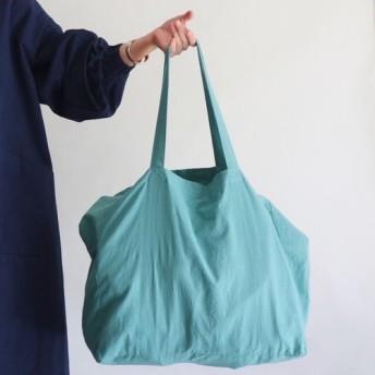 cotton linen bag (smoky aqua)