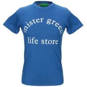 《9/20まで! 限定セール開催中》MISTER GREEN メンズ T シャツ ブルー S コットン 100%