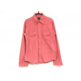 【中古】 ジースターロゥ G-STAR RAW 長袖シャツ サイズS メンズ 美品 ピンク
