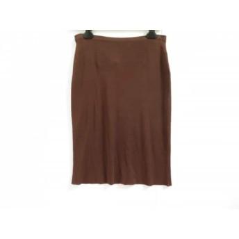 【中古】 アンテプリマ ANTEPRIMA スカート サイズ42 M レディース ダークブラウン ニット