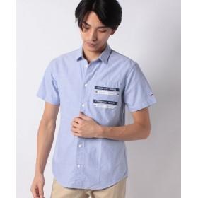 【40%OFF】 トミーヒルフィガー ショートスリーブポケットシャツ メンズ ブルー L 【TOMMY HILFIGER】 【セール開催中】