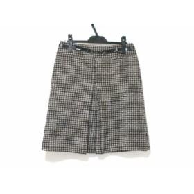 【中古】 ジユウク 自由区/jiyuku スカート サイズ40 M レディース 黒 ベージュ グレー ラメ