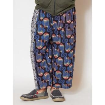パンツ・ズボン全般 - チャイハネ 【チャイハネ】yul エスニック柄イージーメンズパンツ
